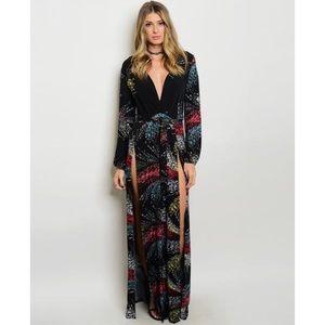Dresses & Skirts - Printed Maxi Dress